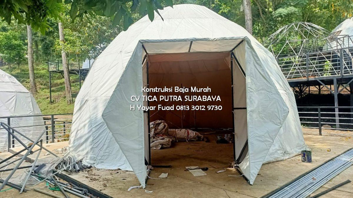 Struktur Tarik Kain   Tenda Glamping   Tenda Kubah Geodesik – H. Yayar Fuad 0813 3012 9730