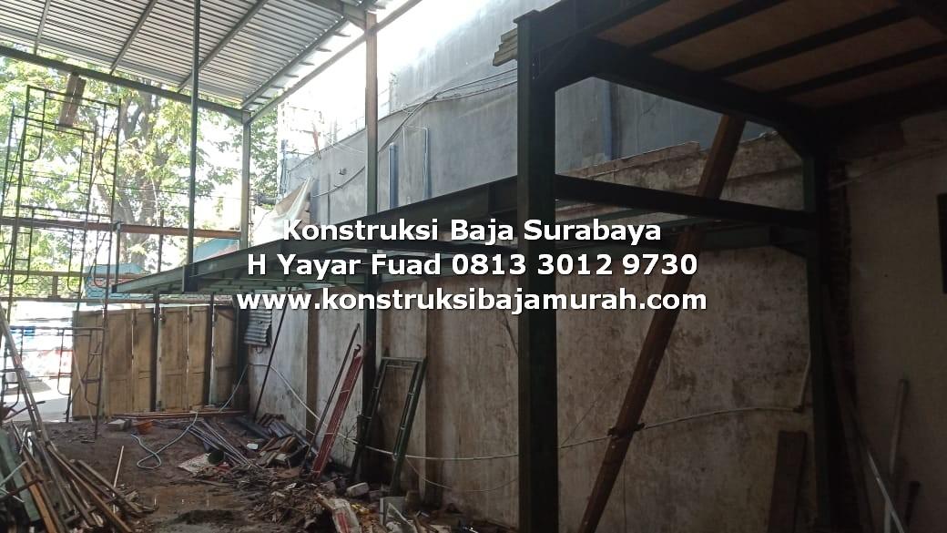 Konstruksi Tingkat dan Atap Bangunan Gedung Gudang Pabrik Baja WF H Beam – H. YAYAR FUAD 0813 3012 9730