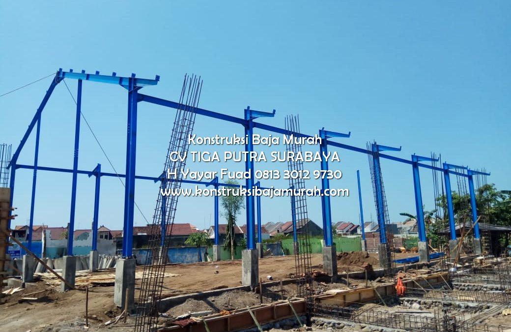 Konstruksi Bangunan Pasar Ikan Probolinggo Berbahan Baja – Konstruksi Baja Pasar Ikan CV. Tiga Putra Jawa Timur H. YAYAR FUAD 0813 3012 9730