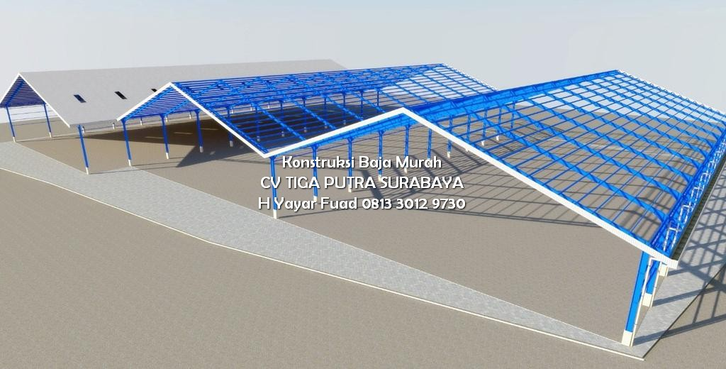 Konstruksi Baja Gudang Pabrik Dolomit Gresik – H. YAYAR FUAD 0813 3012 9730