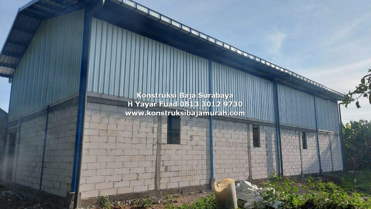Biaya Pembuatan Gudang Rangka Baja | Kontraktor Gudang & Pabrik Surabaya | H. YAYAR FUAD 0813 3012 9730