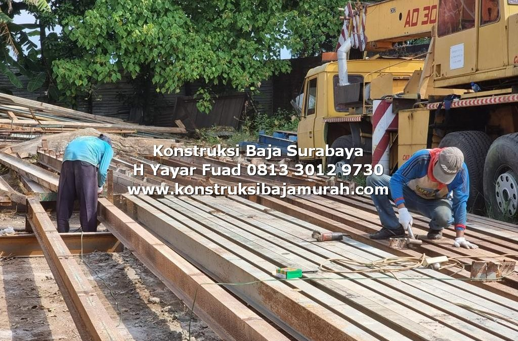 CV Tiga Putra Surabaya  Konstruksi Baja – Bengkel Las WF H Beam H. YAYAR FUAD 0813 3012 9730