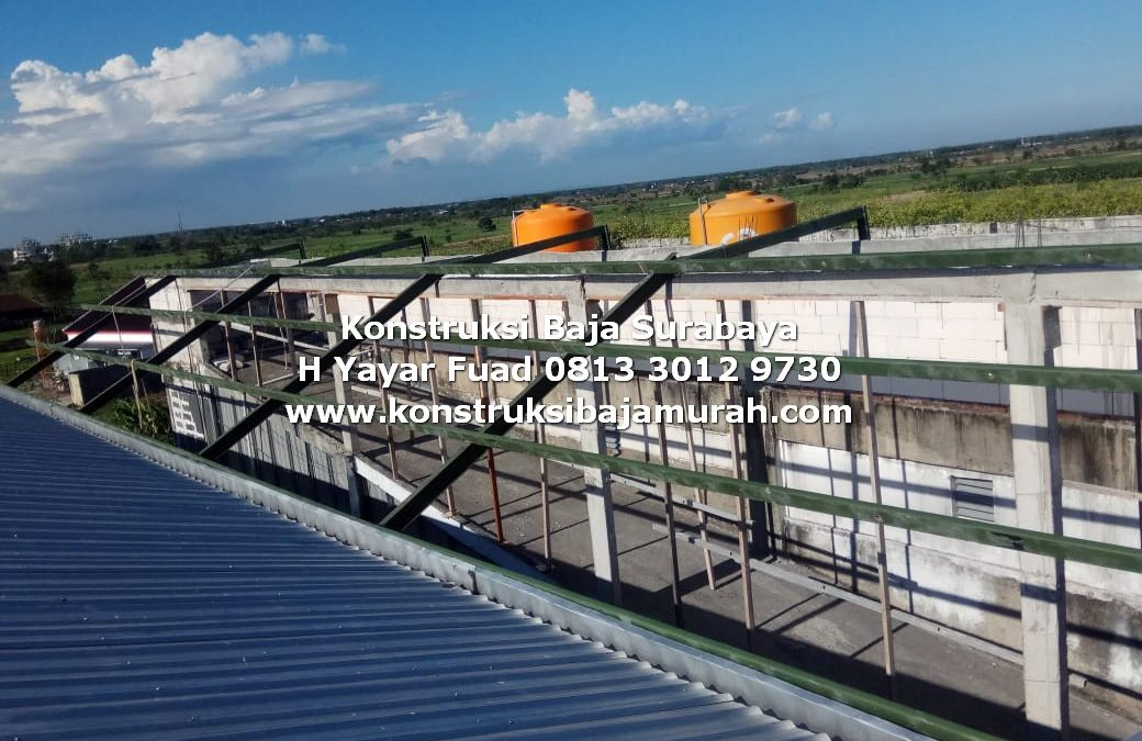 Struktur Konstruksi Baja Rumah Sakit Balongpanggang Gresik – H. YAYAR FUAD 0813 3012 9730