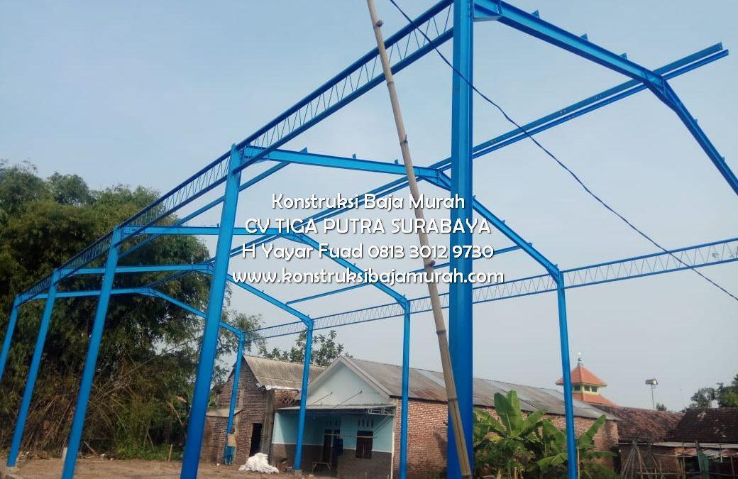 Jasa Konstruksi Baja Kontraktor Bangunan Paket Fabrikasi Gudang Surabaya – H. YAYAR FUAD 0813 3012 9730